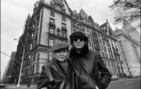John Lennon and Yoke Ono, The Dakota, 1 West 72nd Street , NYC celebrity couples