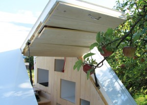 Soul Box, studio allergutendinge, small house, wooden house, unfolding windows,