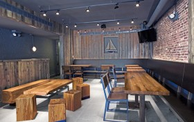 Shake Shack furniture, Mark Jupiter designs, Brooklyn Shake Shack