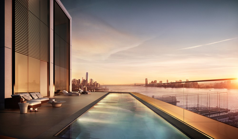 551w21 penthouse pool, 551w21, 551w21 penthouse, norman foster nyc