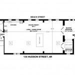 135 Hudson Street #6R, artist's studio, Kimball & Ihnen, floor plan
