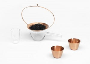 Formafantasma, Still collection, water purifying, engraved glass items, copper items, activated charcoal, J. & L. Lobmeyr, Design Academy of Eindhoven, Italian design