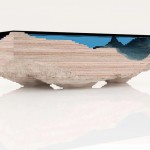 Duffy London, Christopher Duffy, Abyss Table, inspired by the ocean, fsc wood table, layered glass table,