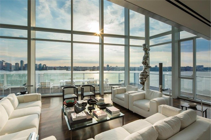 48 Million Richard Meier Penthouse Up For Resale For First Time Beauteous 3 Bedroom Apartments Nyc For Sale