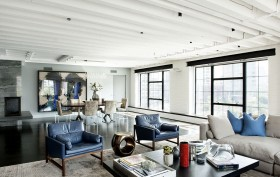 Laight Street Loft, loft remodels, colorful renovation, colorful interiors