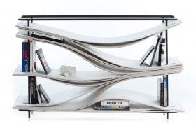Studio FEM, Wave shelving system, undulating shelving, Danish design, Danish furniture,