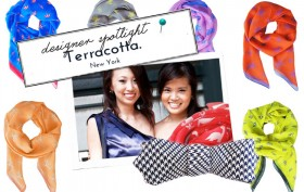 terracotta scarves, terracotta design, local nyc design, alina cheung