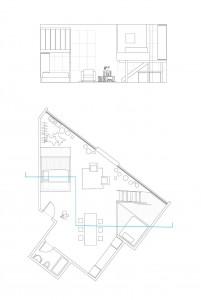 Terri Chiao and Adam Frezzo, A Cabin in A Loft, Brooklyn arist spaces, indoor treehouse