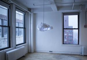 Richard Clarkson, The Cloud, Cloud lamp, interactive cloud, cloud chandelier
