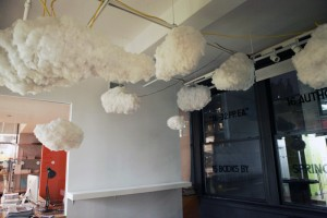 Richard Clarkson, The Cloud, Cloud lamp, interactive cloud, cloud chandelier