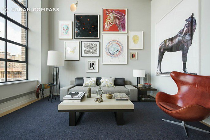 with a shamir shah designed interior 525m west chelsea duplex is a work of art - Chelsea Interior Designers