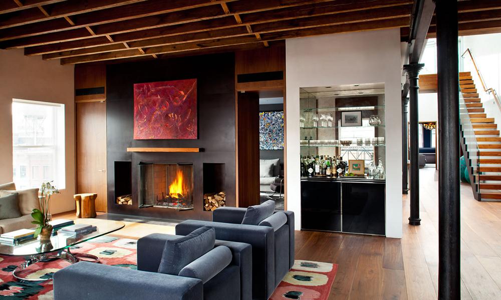 HS2 Architecture's Wooster Street Loft: Elegant Furnishings Plus