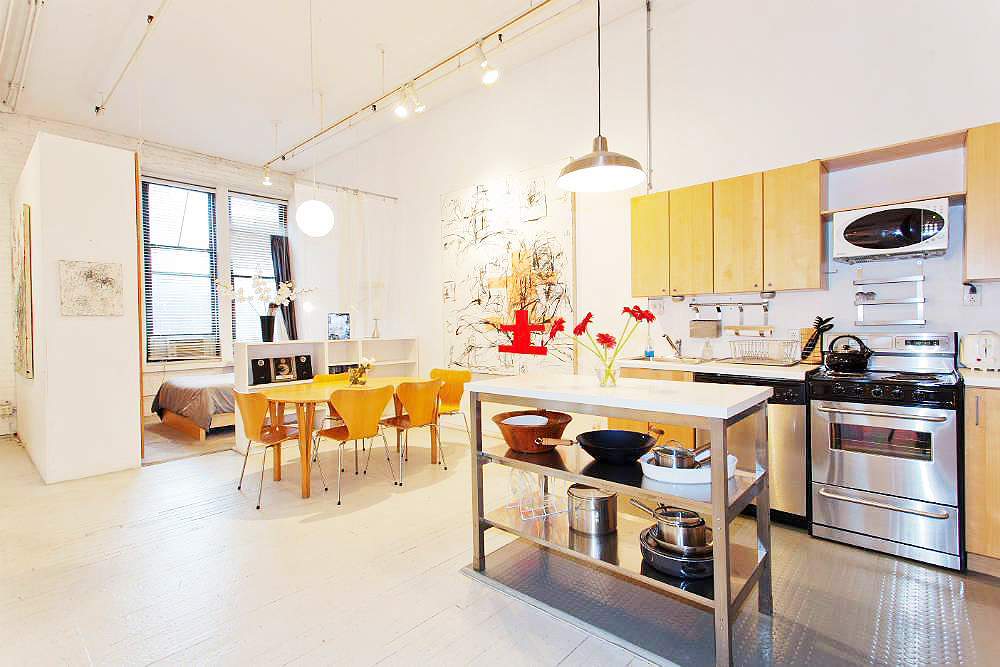 6 Varick Street #2C, short-term lease, quintessential loft