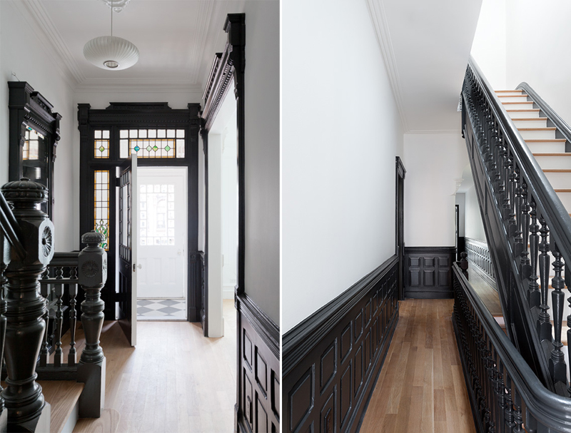 landmarked 1887 townhouse is right at home in 21st century park slope 6sqft. Black Bedroom Furniture Sets. Home Design Ideas