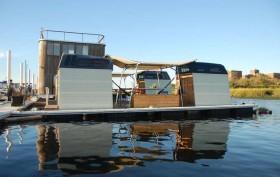 rockaway, queens, floating hotel, truck-a-float hotel, floating sleeping pods