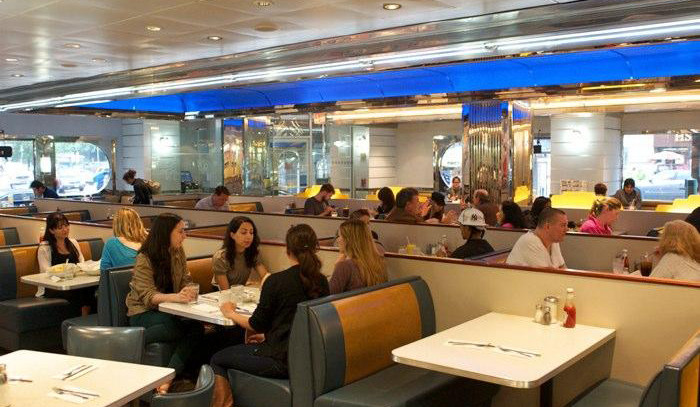 tick tock diner, nyc diner, classic diners, diner architecture