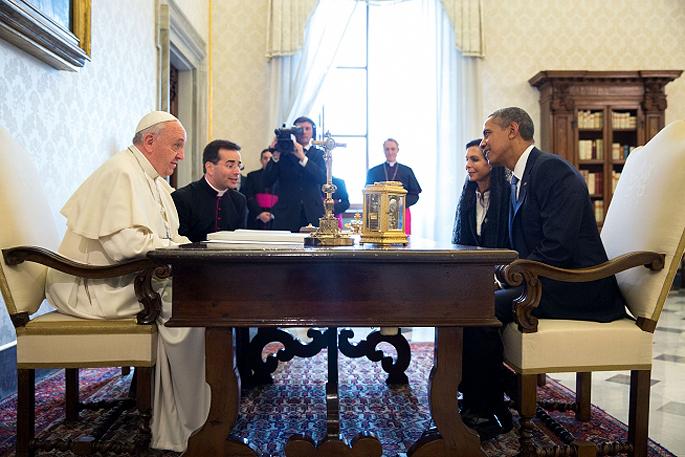 Pope Francis and president barack Obama