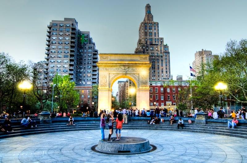 Washington Square Park, Greenwich Village, Washington Square Arch
