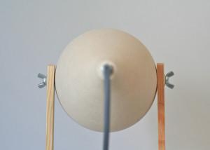 Federica Bubani, Nordic Lamp, scandinavian aesthetics, ceramic and wood, Italian design, table lamp
