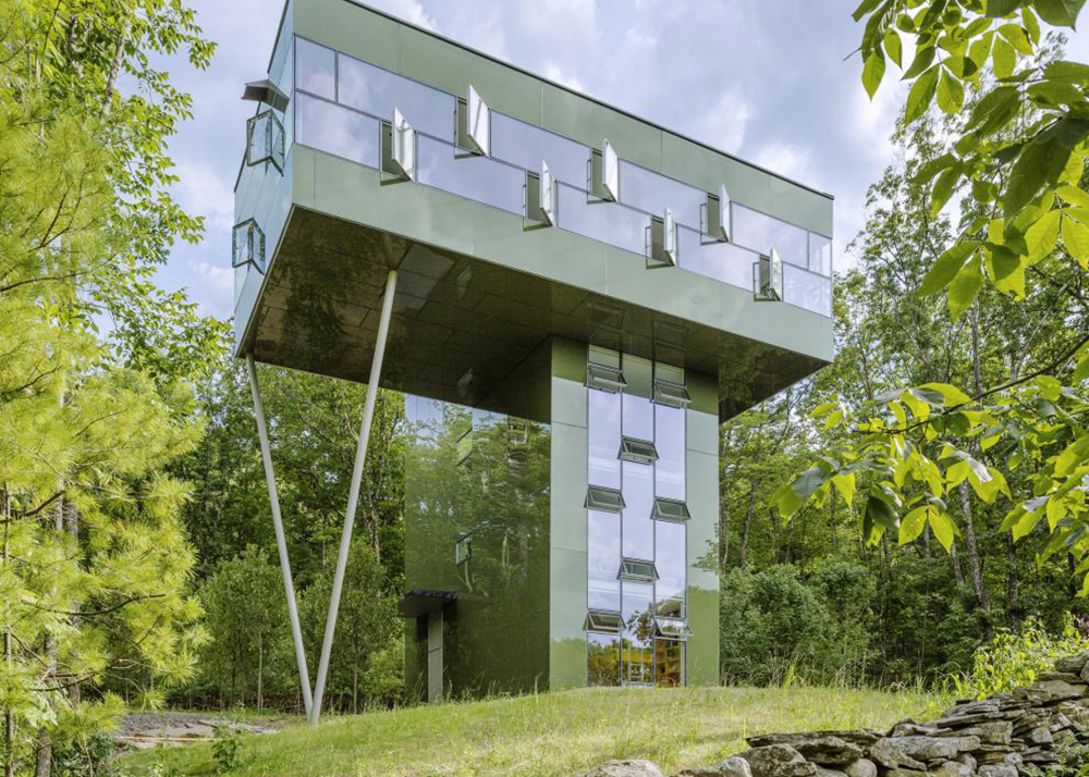 Tower House By Gluck Is A Stairway To The Treetops In Ulster County