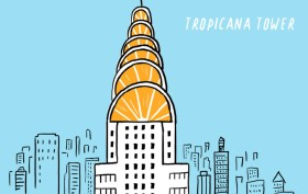 Nicholas Blechman, Gastro-Architecture, Chrysler Building, reimagined landmarks