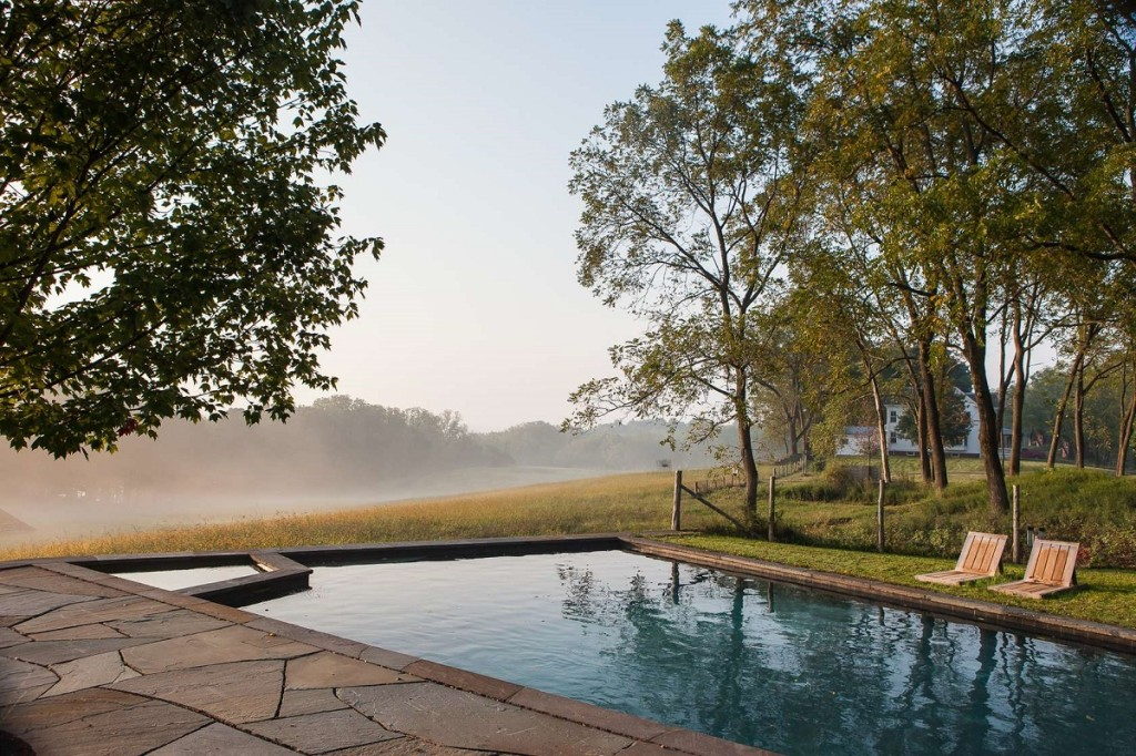 Trapezoidal Pool By Susan Wisniewski Landscape Completes The Greene