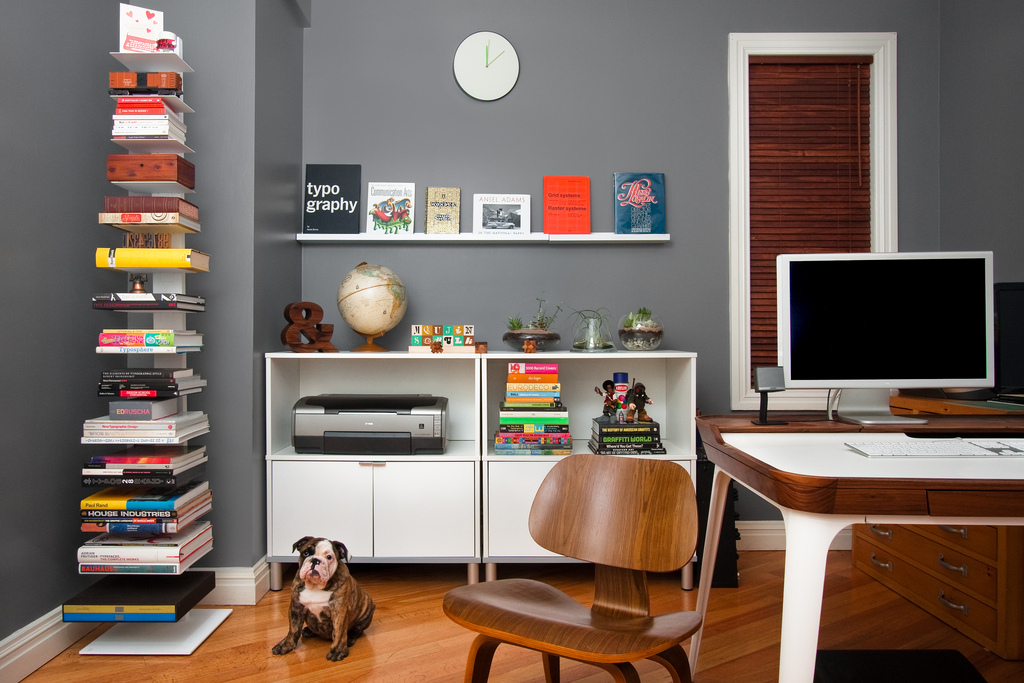 A NYC Designer's home office.