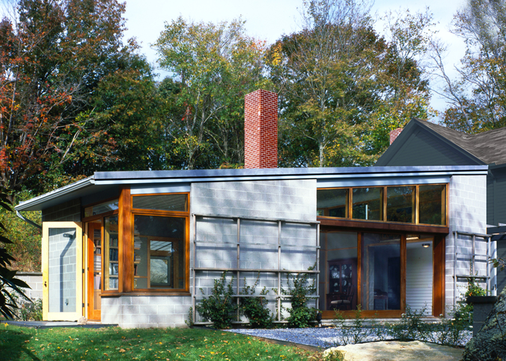 Fishers Island Houseu0027s Modern Extension By Ryall Porter Sheridan Is Built  With Recycled Newspaper