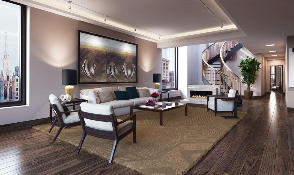kim kardashian real estate, kanye west real estate, kim kardashian nyc penthouse, 66 east 11th penthouse, 66 east 11th