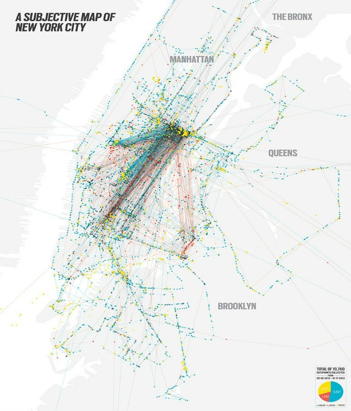 Vincent Meertens' Subjective Map of NYC