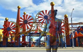 Trina Merry, Coney Island, body art, nyc scenes, nyc landmarks, nude art