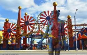 Trina Merry, Coney Island, body art, nyc scenes, nyc landmarks, nude art