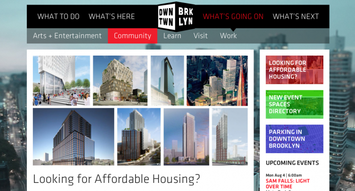 looking for affordable housing, downtown brooklyn