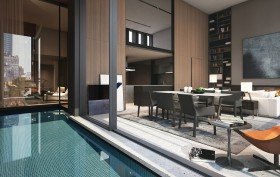 Soori High Line, SCDA Architects, High Line architecture, Soo Chan, interior swimming pool