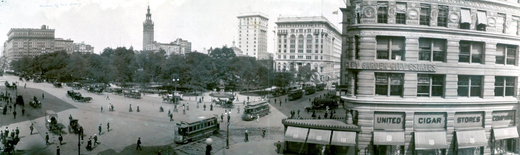 Madison square park in 1908