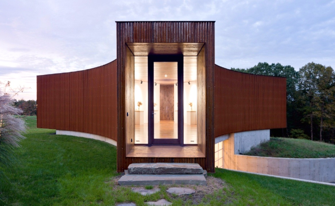 Y shaped guest house was co designed by hhf architects for Y shaped house plans