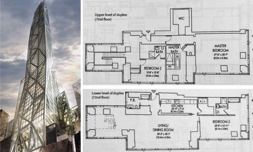 REVEALED: Penthouse Floorplans for Jean Nouvel\'s MoMA Tower | 6sqft