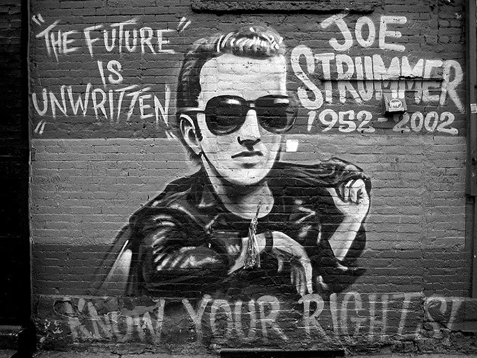 Joe Strummer, The Clash, East 7th Street, East Village, Alphabet City, NYC
