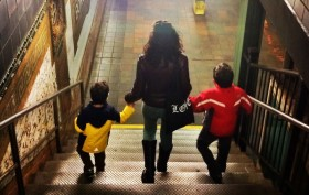 city kids, subway, families, urban living