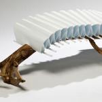 Floris Wubben, polypropylene, driftwood, sculptural seat, No. 3 Bench,