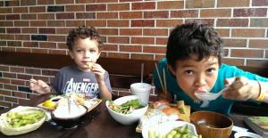 city kids, family, NYC, Brooklyn, Sushi