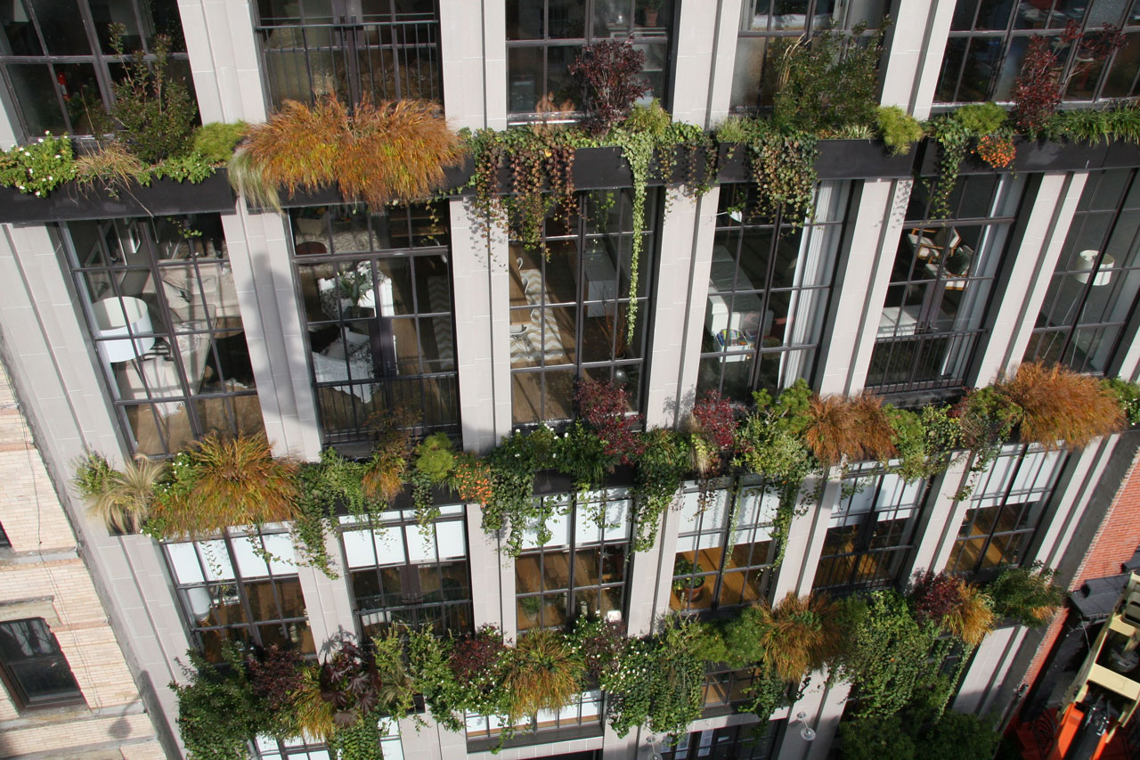 Garden Design Nyc The flowerbox building a sustainable gem in a storied setting 6sqft flowerbox building living wall nyc condo vertical garden verdant garden design sisterspd