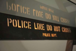 Carlos Sampietro, NYC police barricade, The Street is in the House, Police Table Masterpiece