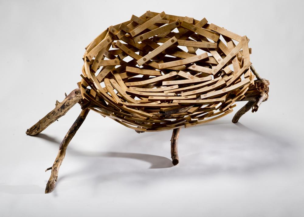 Floris Wubben, Eyrie Bench, wooden seat, human nest,