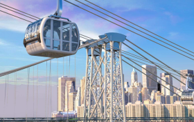 east river skyway, gondolas, nyc gondolas, roosevelt, dan levy, city realty, nyc gondolas, east river skyway dan levy