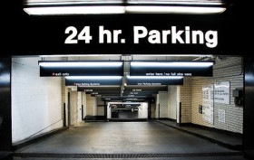 nyc parking garage entrance, nyc parking garage, manhattan parking garage