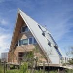 A-Frame Re-Think, Bromley Caldari Architects, Fire Island beach house