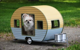 dog trailer, dog-sized trailer, judson beaumont, customized pet furniture, pet furniture, eco-friendly pet furniture, dog-sized trailer