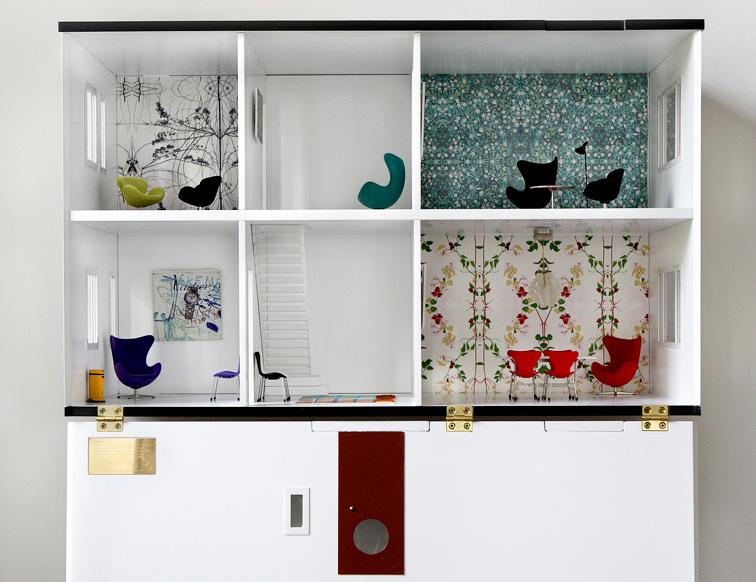 Modern Dollhouse, Ultra Modern Dollhouse, Arne Jacobsen Dollhouse, Modern  Dollhouses, Dollhouses For