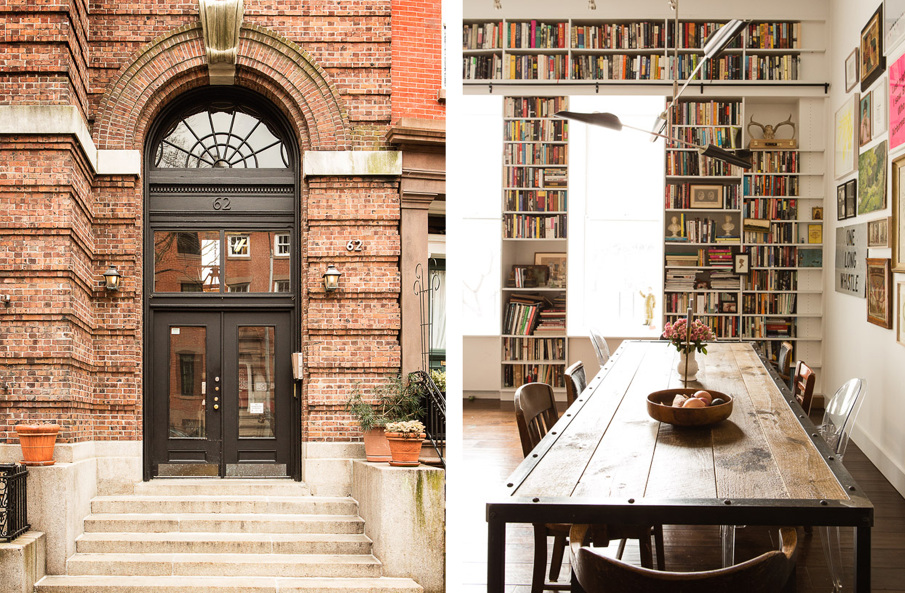 Brooklyn Heights loft, Elizabeth Roberts, Ensemble Architecture, Bookshelves, Renovation, Interiors